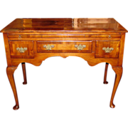 Antique English George II Walnut Lowboy Circa 1740