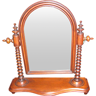 Antique American Mahogany Dressing Mirror Circa 1850