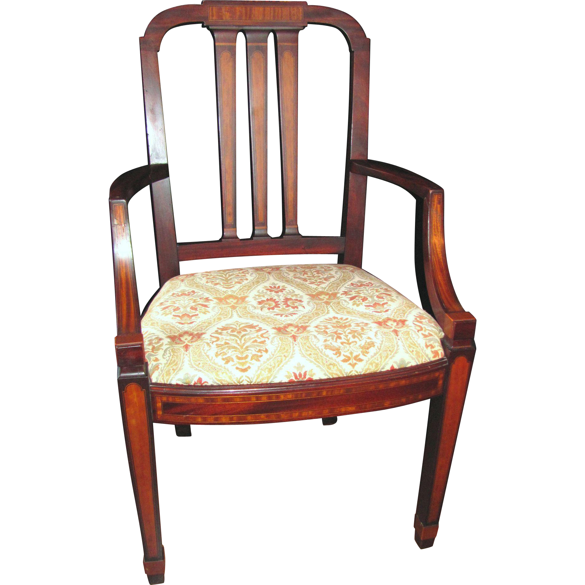 Antique American Mahogany Set 12 Matching Dining Chairs Circa 1900 Cowan Co.