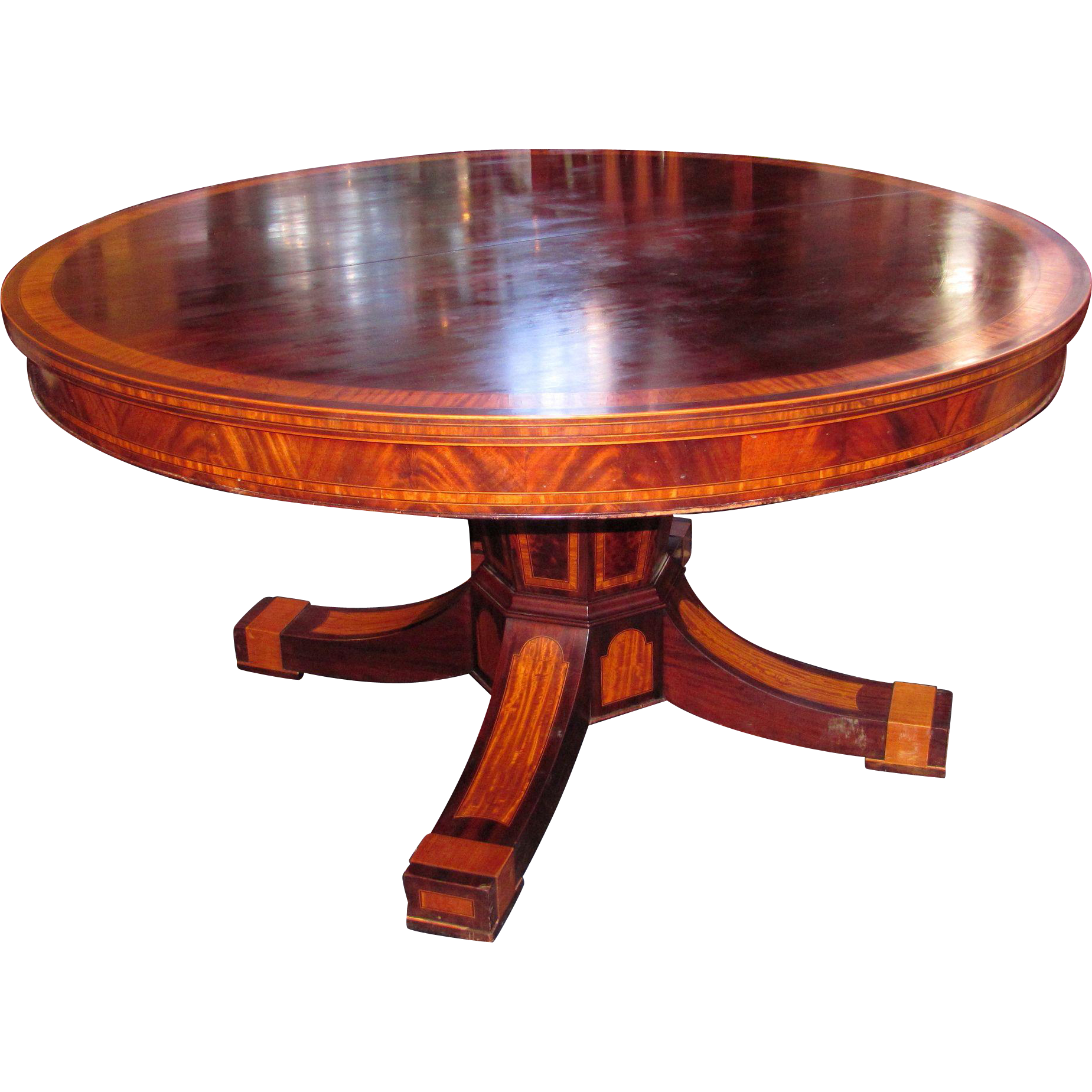 Large Antique American Mahogany Dining Table Circa 1900 Cowan  Co.