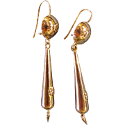 Antique American Victorian 10KT Earrings Circa 1860