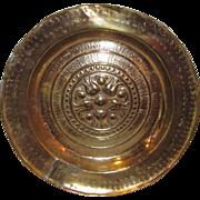 Rare Antique German Brass Alms Dish 14th to 15th Century