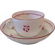 Antique European Soft Paste Porcelain Cup and Saucer Circa 1790