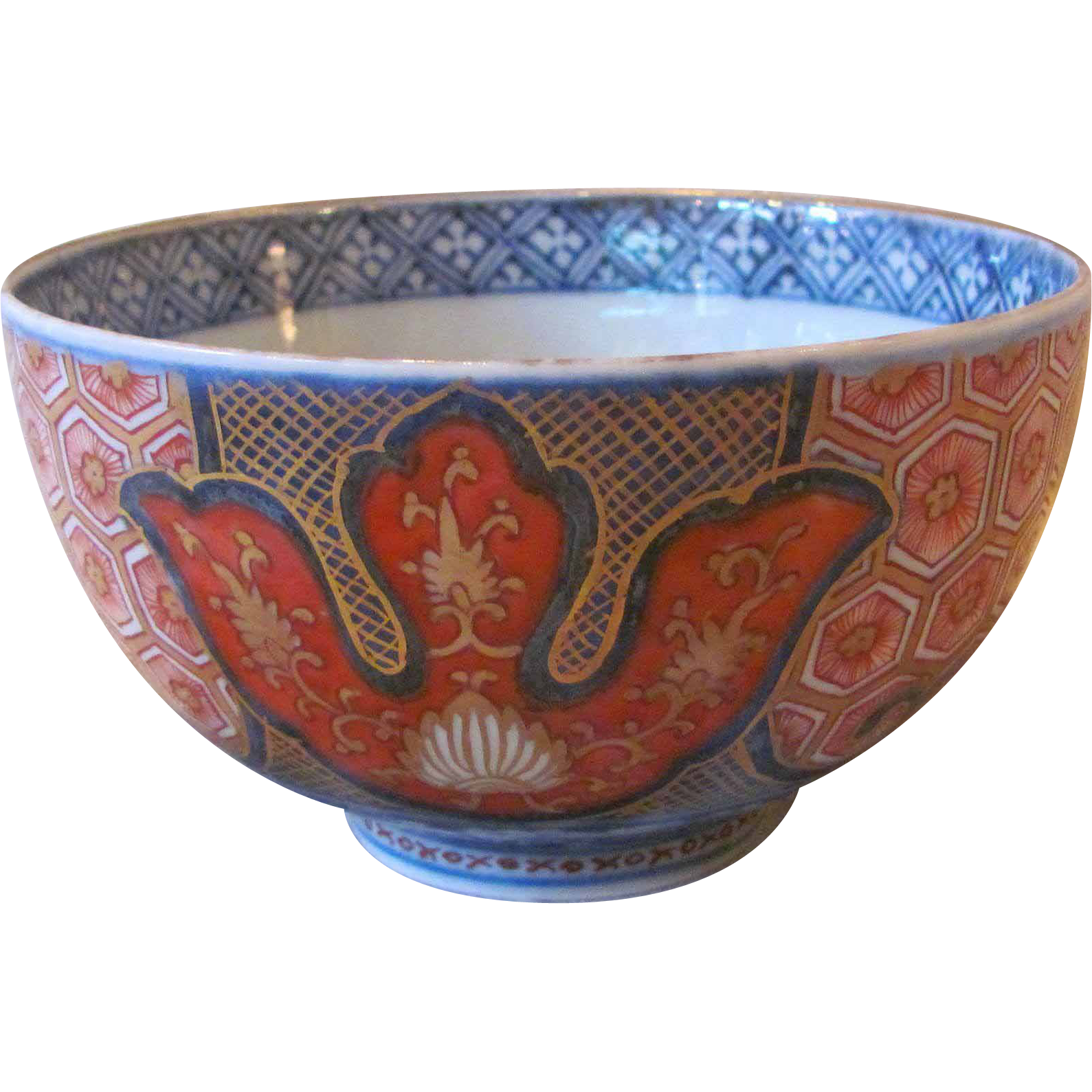 Antique Japanese Imari Bowl Meiji Period Circa 1900