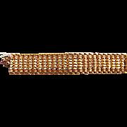 Fabulous Vintage Italian 18K Gold Bracelet Circa 1960 Signed