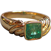 Vintage 18K  Emerald Ring  1.20ct.