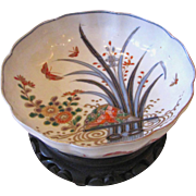 Antique Japanese Imari Bowl on Stand Meiji Period Circa 1870