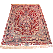 """Vintage Persian Rug Very Fine Quality High KPSI Wool and Silk 9'5"""" X 5'9"""""""