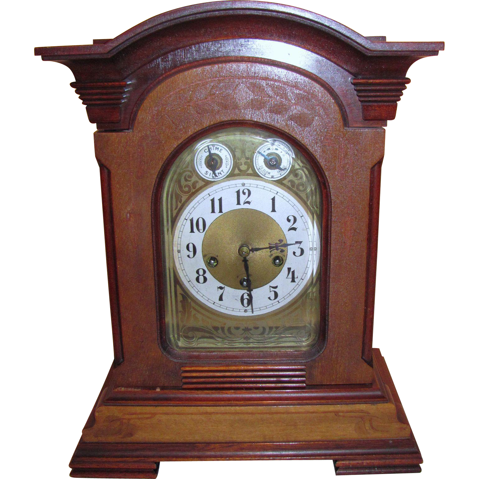 Antique German Junghans Bracket Clock Circa 1910-1920