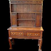 Antique English Oak Welsh Dresser Circa 1780