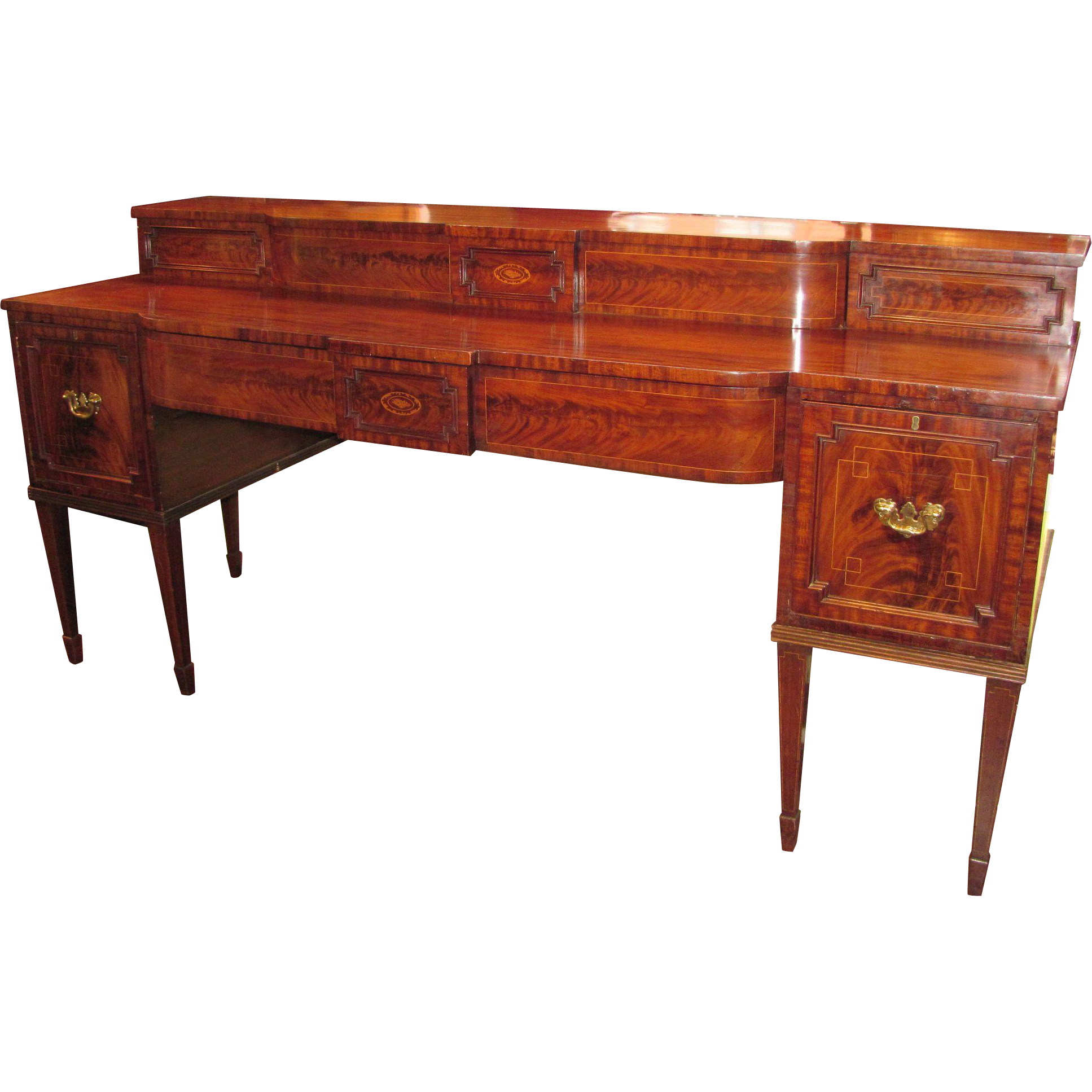 Antique English Georgian Mahogany Sideboard Circa 1815