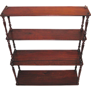 Antique English Georgian Mahogany Shelf Circa 1800