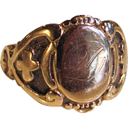 Antique 14K Gold Signet Ring Circa 1900