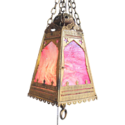 Antique Moorish Style Light Fixture Circa 1900
