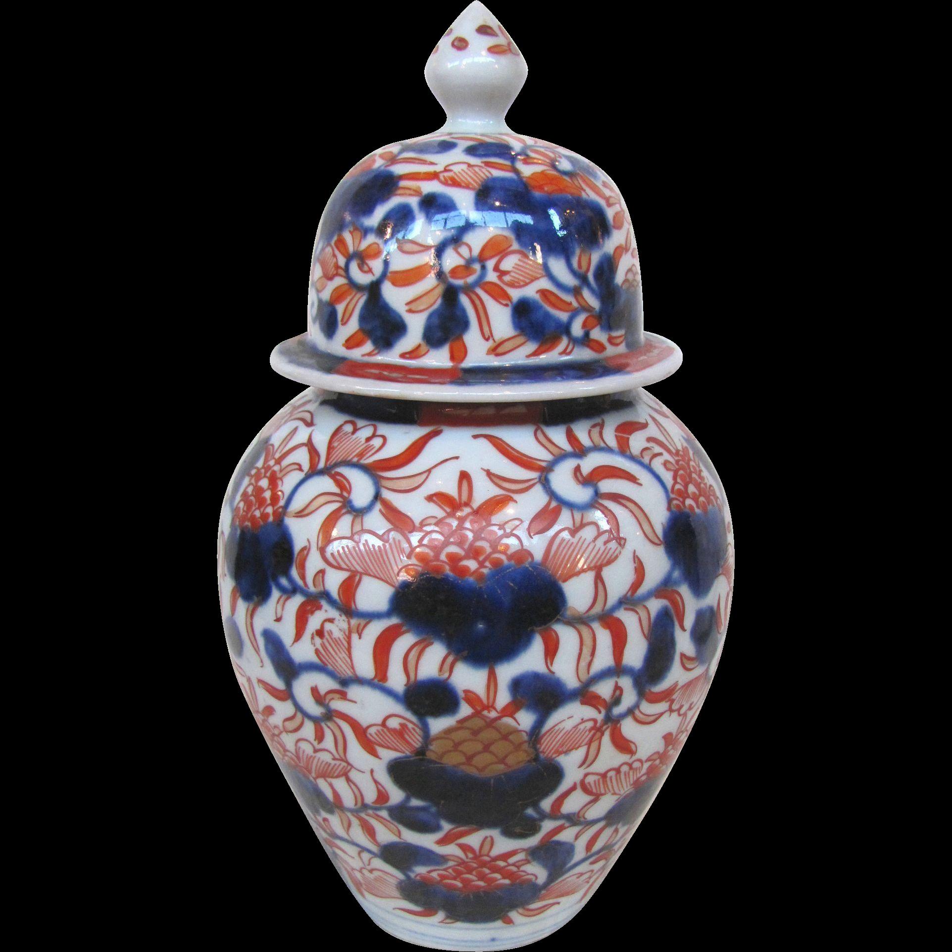 Imari Covered Ginger Jar Circa 1840