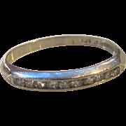 Antique Platinum and Diamond Ring  Circa 1925