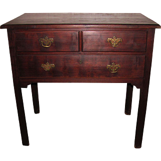 Antique English Chippendale Mahogany Lowboy Circa 1760