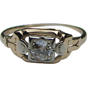 Antique  Art Deco 14K Diamond Ring .25ct. Circa 1925
