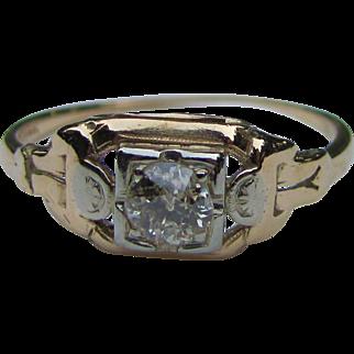 Antique  Art Deco 14K Diamond Ring .25ct. Circa 1925