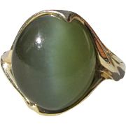 Vintage 14K Cats Eye Chrysoberyl Ring
