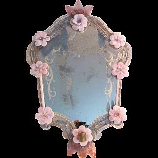 Antique Venetian Murano Wall Mirror Circa 1930