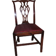 Antique Mahogany Chippendale Side Chair Circa 1770