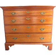 Antique American Pine and Cherry Chest of Drawers 18th Century