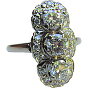 Antique 14K Gold Diamond Ring 1.72cts. Circa 1920