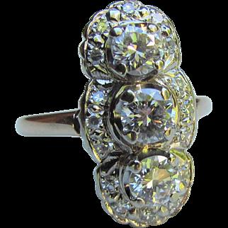 Antique 14K Gold Diamond Ring 1.72cts. Circa 1920's
