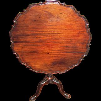 Antique English Georgian Mahogany Tilt Top Tea Table Circa 1780