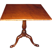 English or American Mahogany Tilt Top Tea Table Circa 1760