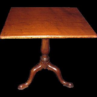 English or American Mahogany Tilt Top Tea Table Circa 1760