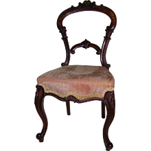 Antique Victorian Miniature Rosewood Dining Chair Circa 1850