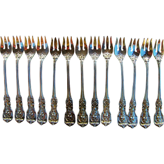 """13 Reed & Barton Sterling Silver Cocktail Forks Francis I  5 1/2"""""""