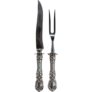 Reed & Barton Sterling Silver Carving Set Francis I