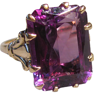 Vintage 14K Alexandrite Ring 1940's 18cts.