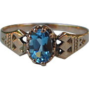 Antique Victorian 14K Topaz Ring Circa 1870