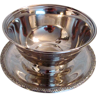 International Sterling Silver Condiment Bowl Prelude Pattern
