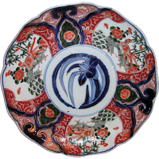 Antique Japanese Imari Plate Meiji Period 19th Century