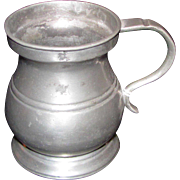 Antique English Pewter Mug Circa 1820