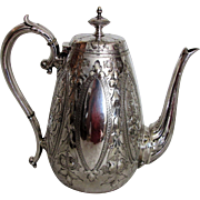 Antique Victorian Silverplate Coffee Pot 19th Century