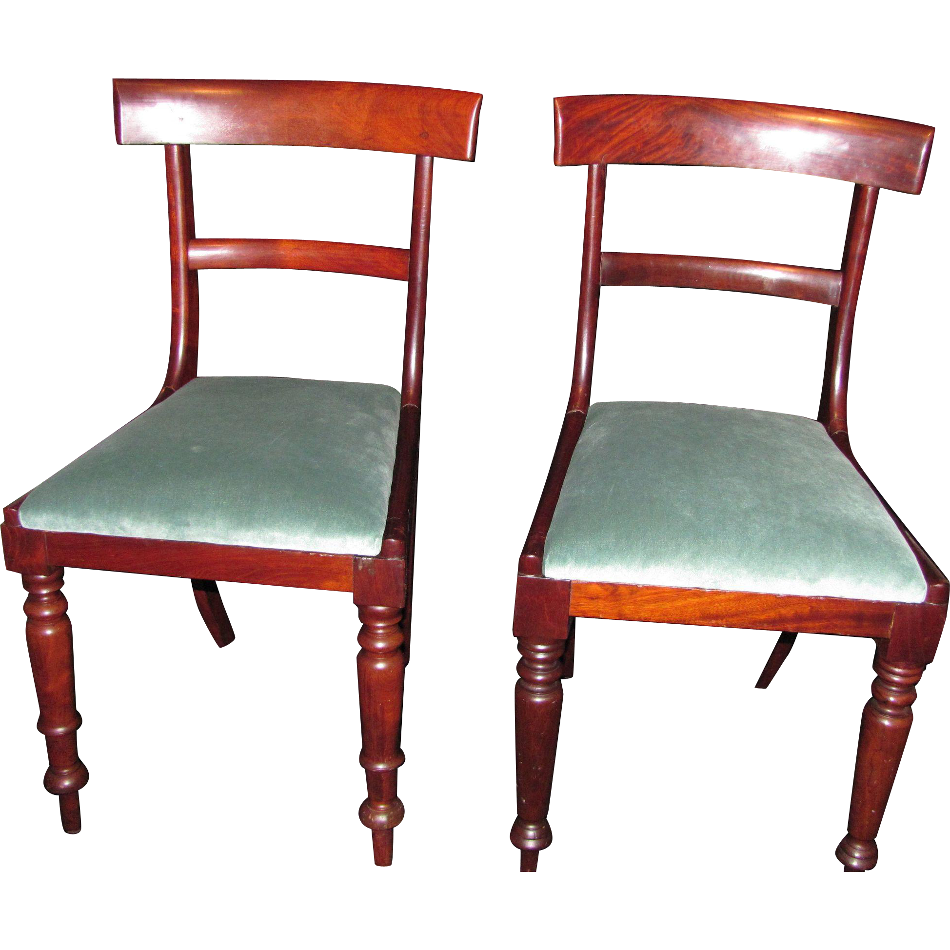 Antique English Side Chairs Mahogany Circa 1830