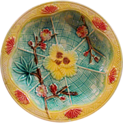 Antique Victorian Majolica Dish 19th century