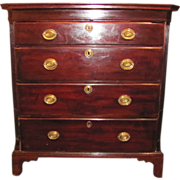 Antique English Georgian Mahogany Chest of Drawers Circa 1770