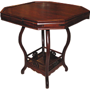 Antique Chinese Rosewood Game Table Circa 1880