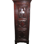 Antique French Louis XIII Oak Corner Cupboard Circa 1700