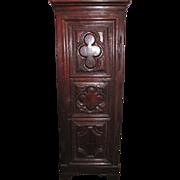 Antique French Louis XIII Oak Corner Cupboard Circa 1700