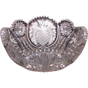 Antique American Brilliant Period Cut Glass Bowl Circa 1900