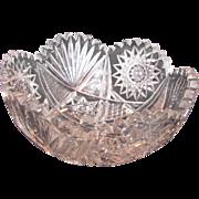 Antique American Brilliant Period Cut Glass Bowl Circa 1910