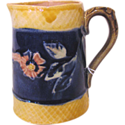 Antique Majolica Cream Pitcher Circa 1910